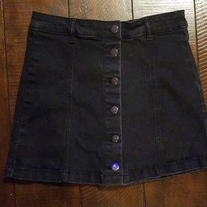 Forever 21 Button up Denim skirt